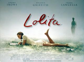 cartel de la película Lolita del director Adrian Lyne
