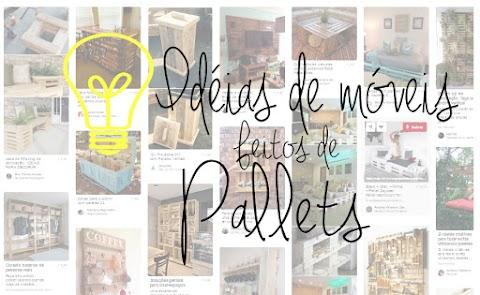 Inspirações do Pinterest de móveis feitos de PALLETS ♥