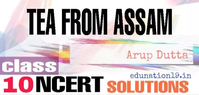 Tea from Assam class 10 ncert solutions