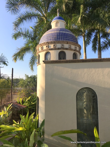 exterior of chapel at Hotel Garza Canela in San Blas, Mexico