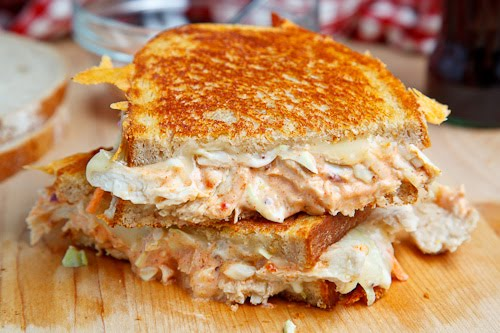 The Rachel Sandwich (aka Roast Turkey Reuben Sandwich) with Coleslaw