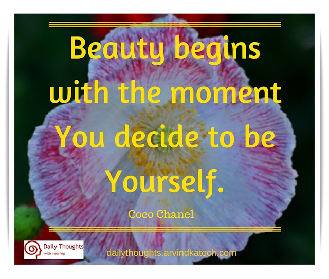 Beauty, begins, moment, Daily, Thought, Meaning, Image, decide, daily quote,