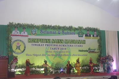 Kakankemenag Tanjungbalai Hadiri Pembukaan KSM Tingkat Provinsi