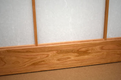 Shoji door bottom rail figured cherry