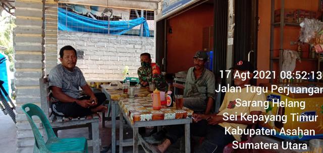 Jalin Silaturahmi, Personel Jajaran Kodim 0208/Asahan Laksanakan Komsos Bersama Masyarakat Diwilayah Binaan