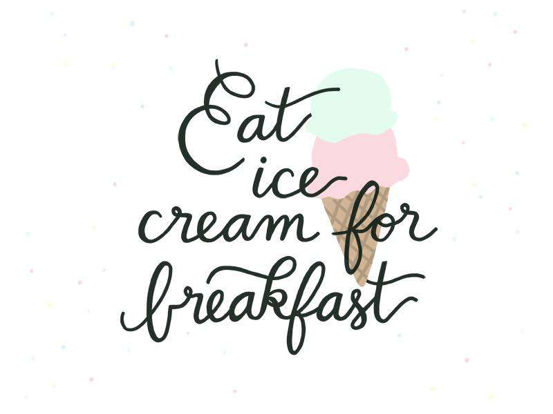 National Eat Ice Cream for Breakfast Day Wishes pics free download