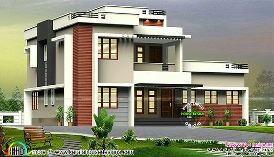 House before construction in 3d imagination