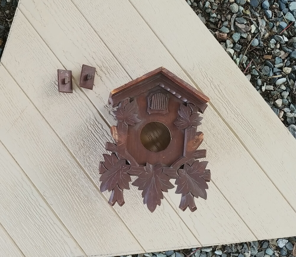 Upcycled Cuckoo Clock ready to paint