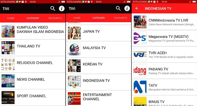 TiVi - Online Streaming TV app for android