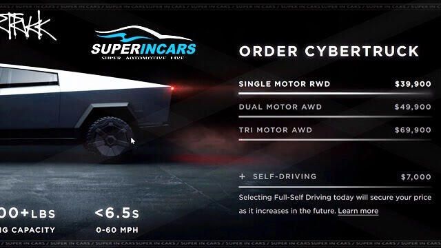 Tesla Cybertruck: Price and Specs