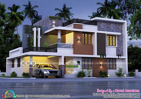 4 BHK modern contemporary home