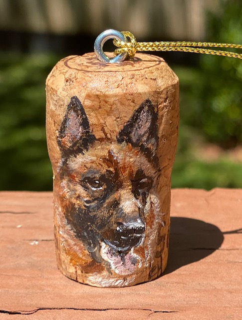 Original painted champagne cork