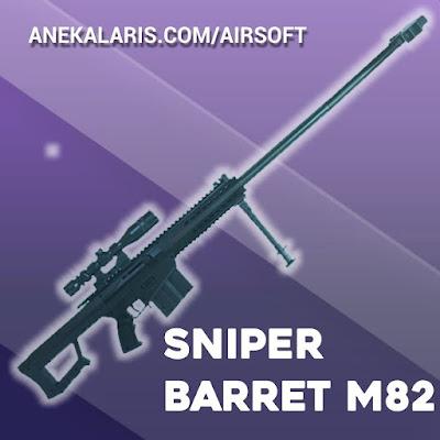 M82A1 Sniper Spring Berkelas With Extended Panjang 110cm