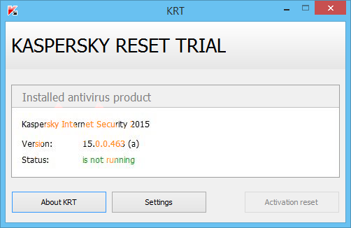 Madison : Download kaspersky trial reset