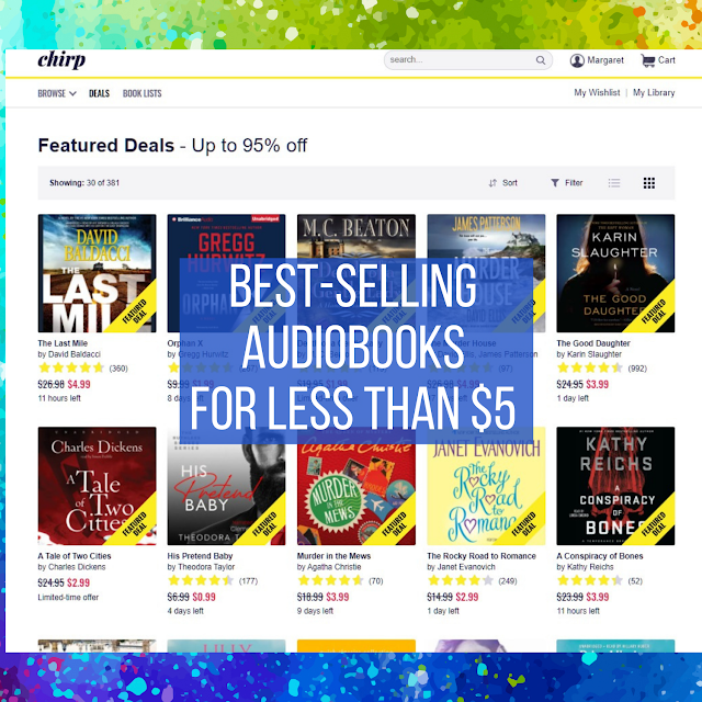 Best-Selling Audiobooks for Less Than $5 - chirpbooks.com screenshot