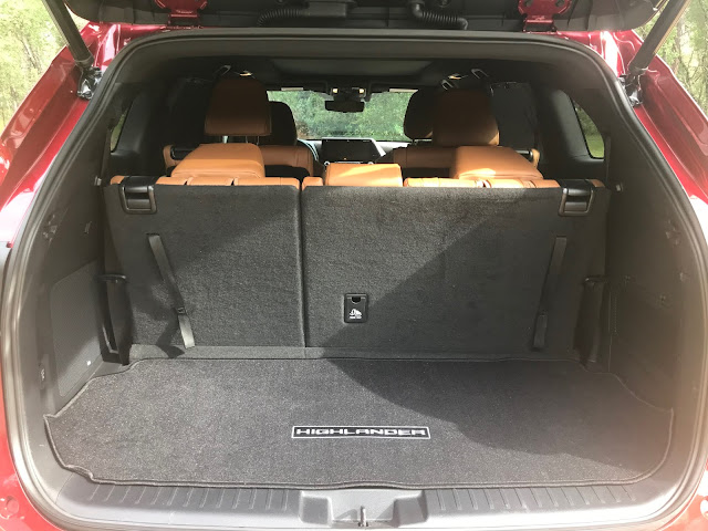 Cargo area in 2020 Toyota Highlander Hybrid Platinum AWD