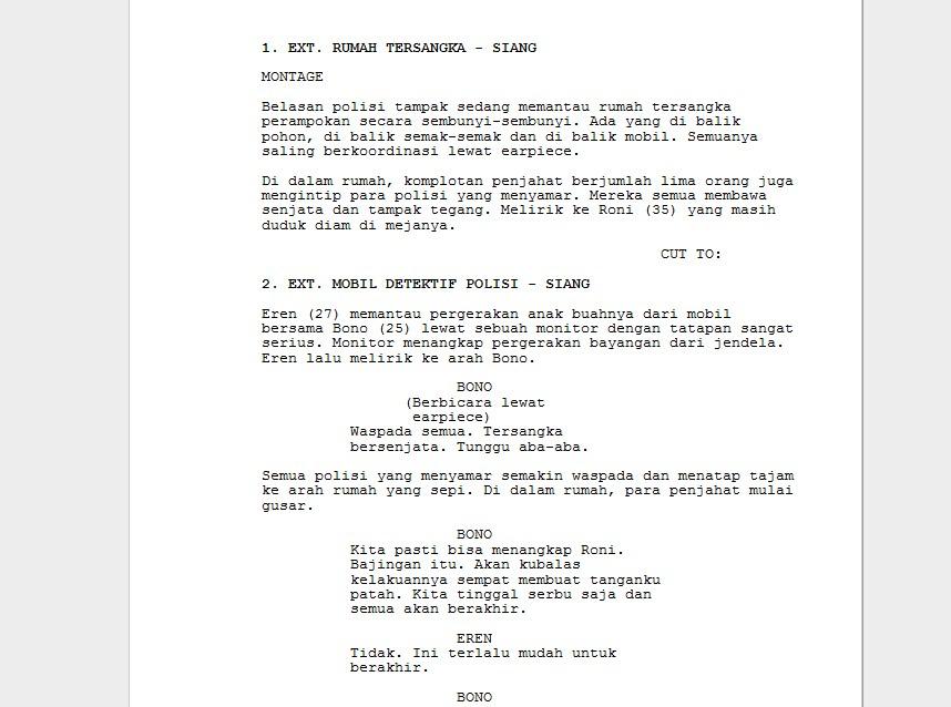 naskah skenario A THREAD yang saya buat