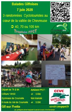 Ffct Calendrier 2021 Cyclo Club de la Vallée de Chevreuse (CCVC): Balades Giffoises 2021