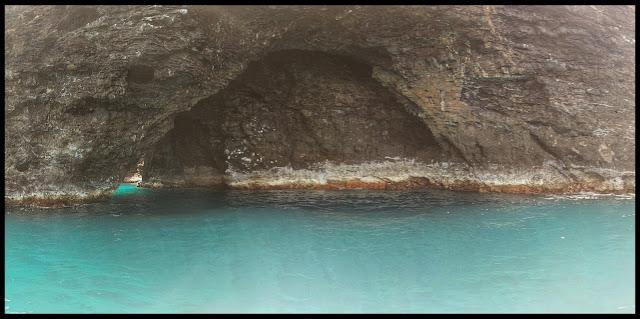 Open Top Cave on the Kauai Coastline
