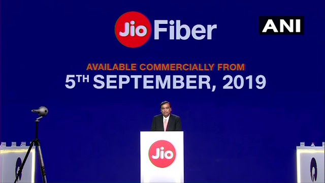 Reliance Jio Fiber Will Be Available Commercially From 5th September , plans start ₹700 , HD / 4K TV and 4K Set Top Box Free