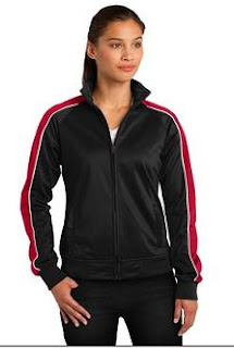 Sport-Tek LST92 Ladies Piped Tricot Track jacket
