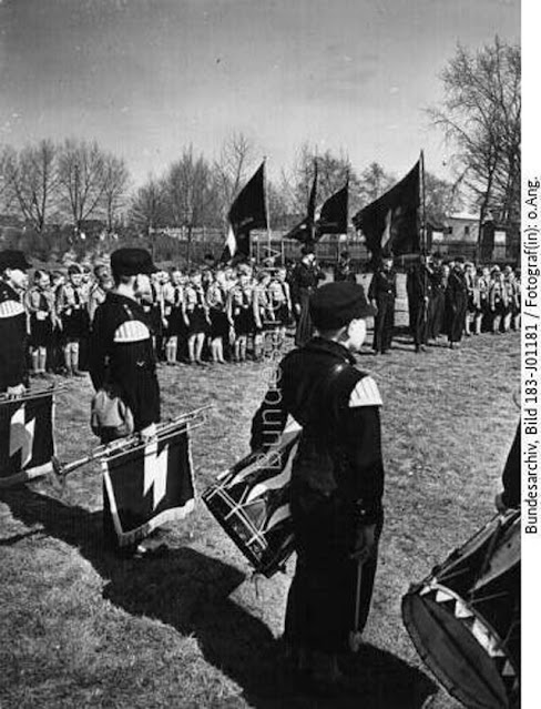Hitler Youth induction ceremony 19 April 1942 worldwartwo.filminspector.com