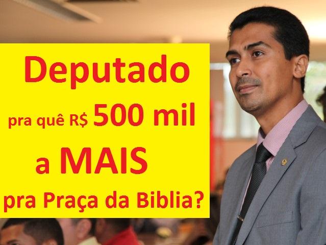 Dois anos depois da gravação do áudio-bomba, Deputado Marco Aurélio, até hoje não disse pra que ou pra quem seria os R$ 500 mil reais!!!