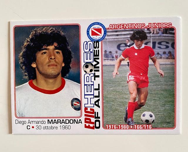 figurina maradona Argentinos  Juniors