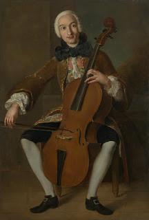 Pintura que muestra a Luigi Boccherini tocando el violonchelo
