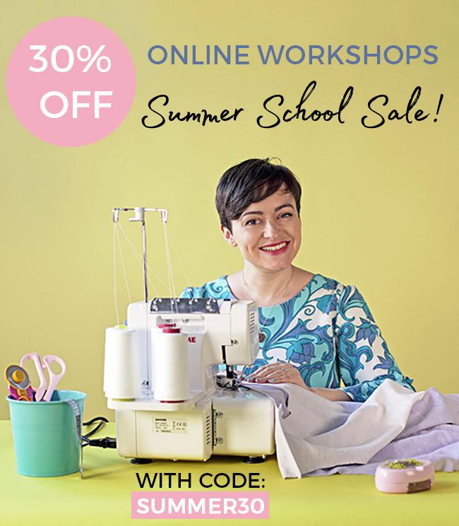 Tilly and the Buttons Online Workshop summer sale - until 13/06/21