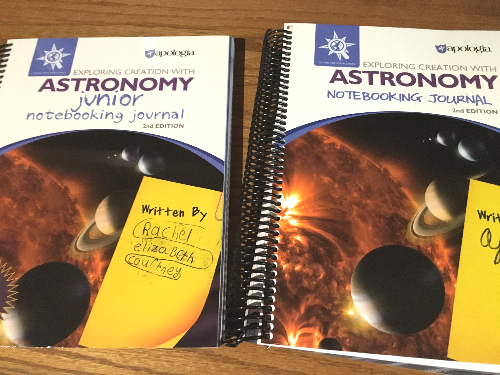 Apologia astronomy notebooking journals
