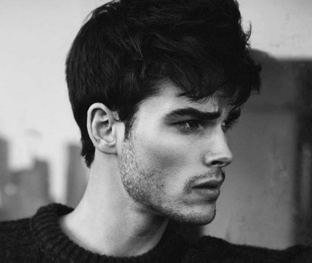 Stubble hsir style by model