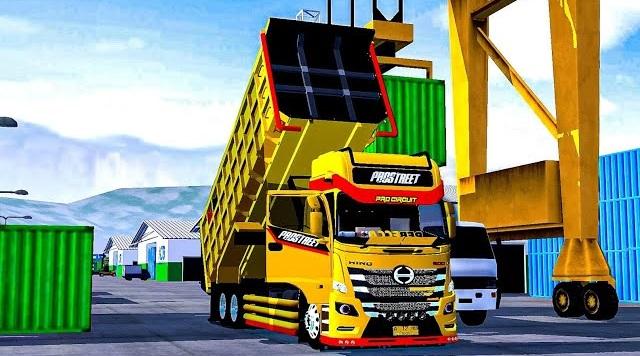 Mod Bussid Truck Spesial Hino 500 Dumptruk