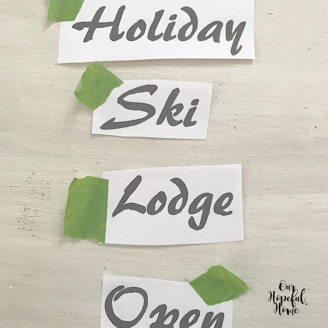 Holiday ski lodge open print