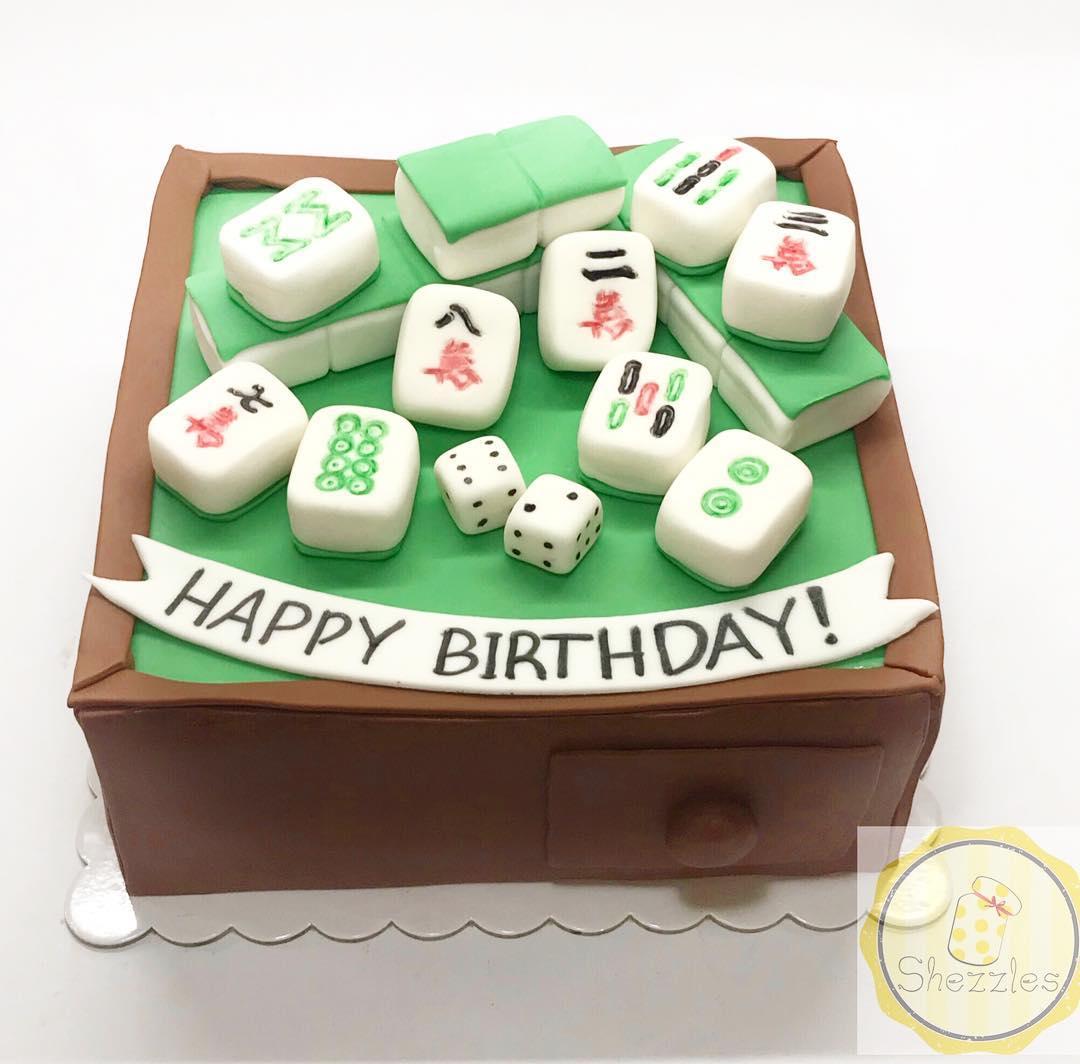 Shezzles Dessert In A Jar Mahjong Themed Cake