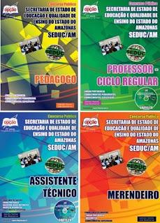 Apostila da Seduc-AM 2018 - Merendeiro - Assistente Técnico - Pedagogo e Professor