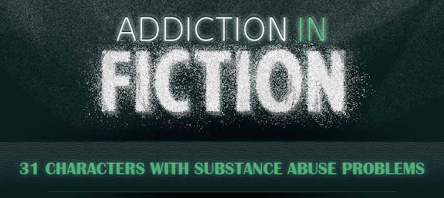 31 Fictional Characters with Substance Abuse Problems #infographic