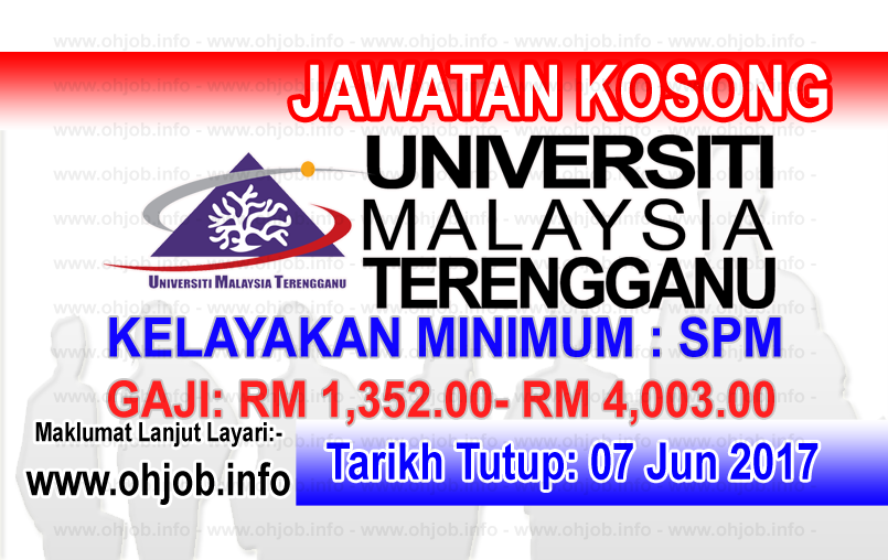Jawatan Kerja Kosong UMT - Universiti Malaysia Terengganu logo www.ohjob.info jun 2017