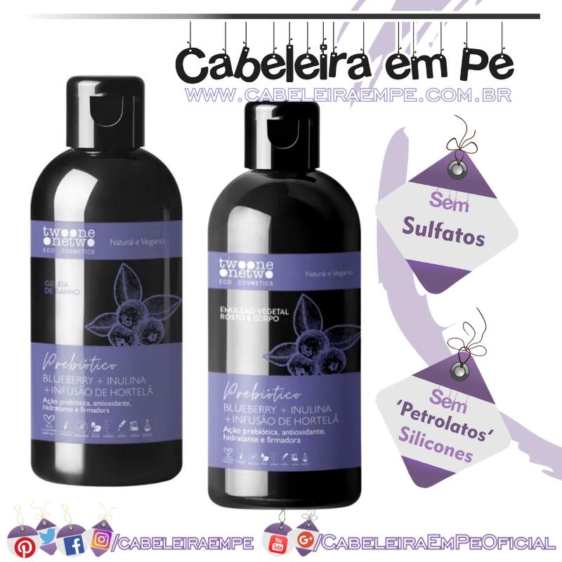 Geleia de Banho Blueberry, Inulina e Hortelã Natural Vegano - TwoOne OneTwo