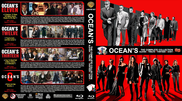 Ocean's: The Complete Collection Bluray Cover
