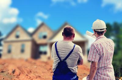 Maison en cours de construction.