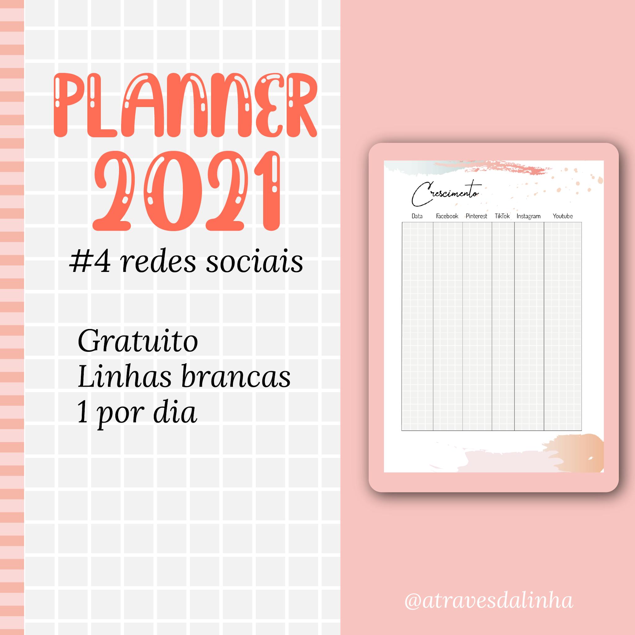 PLANNER 2021 #4: Crescimento das redes sociais - Atraves ...