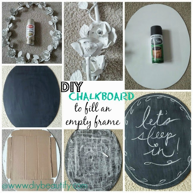 DIY Chalkboard to fill an empty frame