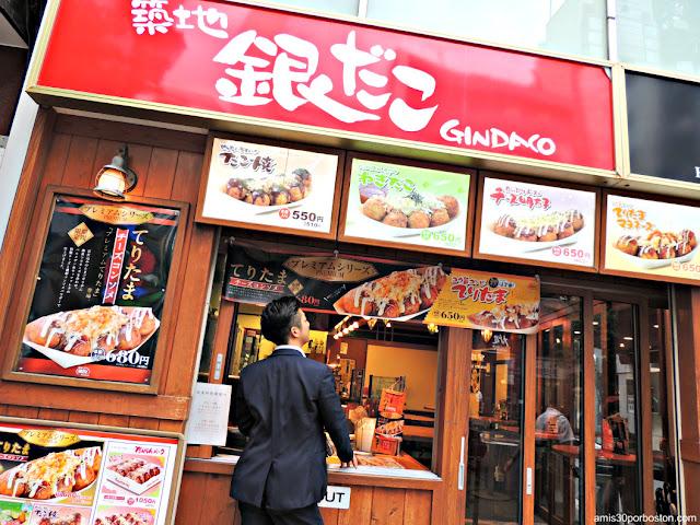 Takoyaki Gindaco Highball Sakaba en Tokio
