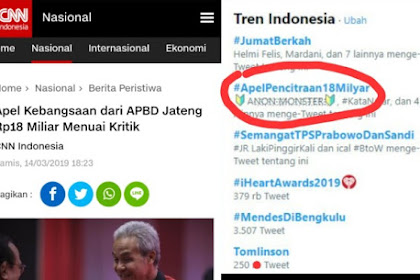 Apel Kebangsaan Jateng Rp18 Miliar Menuai Kritik, Tagar #ApelPecitraan18Milyar Trending Topic