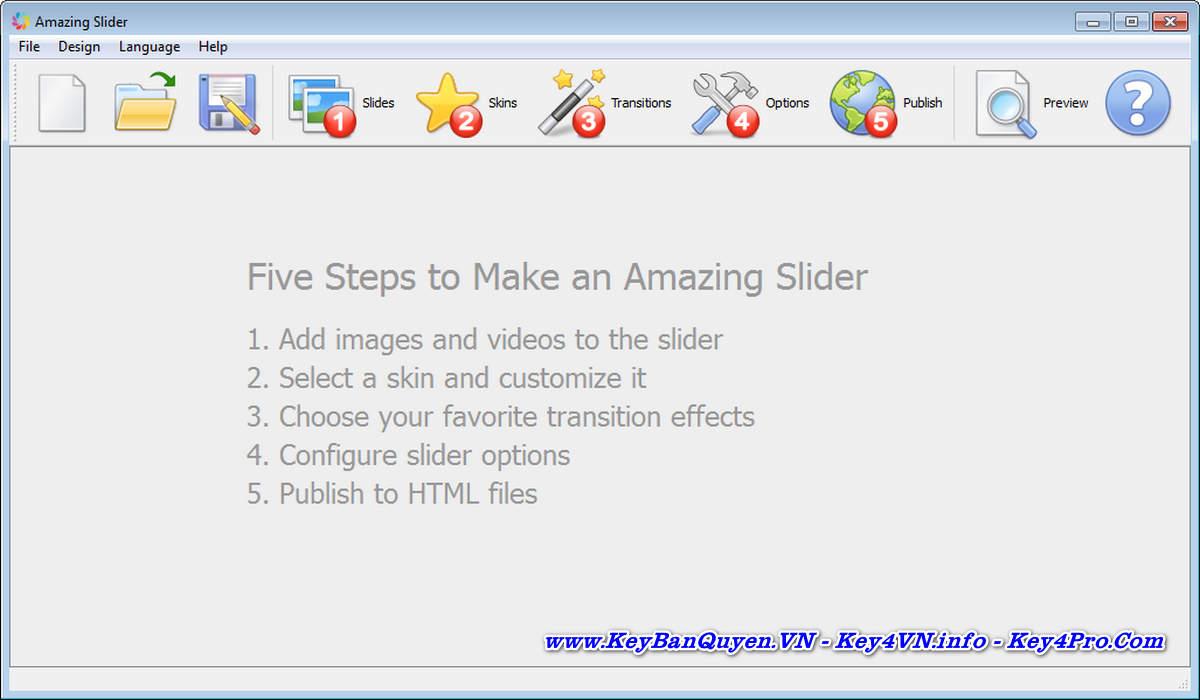 Download và cài đặt Amazing Slider 7.2 Enterprise Key Bản Quyền, Tạo trình chiếu để nhúng vào Website.