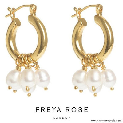 Kate Middleton wore Freya Rose gold hoops with pearls