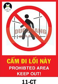 Biển báo cấm đi lối này