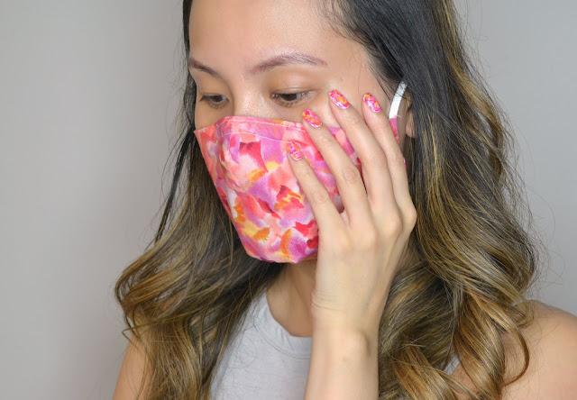 Watercolour Mask and Matching Nail Art