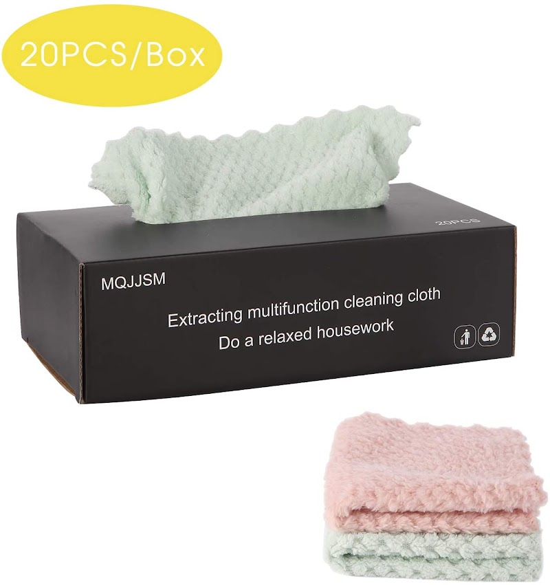 50% OFF Set of 20 Microfiber Cleaning Cloth in Box